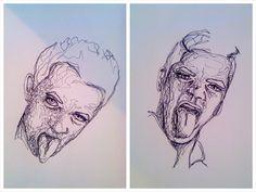 Drawings. Pen. Original. Uni project.