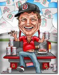 Personalized Caricatures for Sports Fans