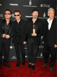 Gli U2 - golden globes 2014 after party