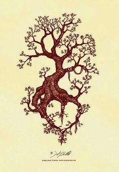 ... tattoo? Tree with the roots forming a heart. Pretty cool #tree #tattoo