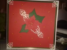 Tattered lace and poinsettia craft Angela part 2