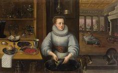 Kitchen maid  about 1590 by Frederik I. van Valckenborch