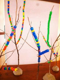 Sticks with beads