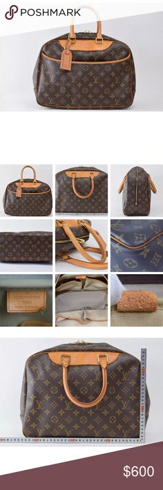 💯Authentic LV Deauville Handbag Travel weekend bag or just use as a large purse see pictures and date code MB002 🚫NO TRADES Louis Vuitton Bags Satchels