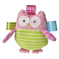 Amazon.com: Taggies Oodles Owl Plush Rattle: Baby