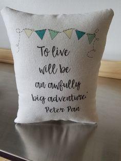 Pillows for nursery kids throw pillow soft cotton cushion Peter Pan kids room decor