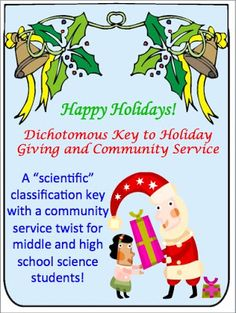 Oh my, yes!  A dichotomous classification key with a holiday twist (science and service)