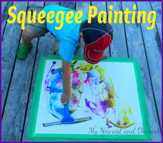 Squeegee Painting: A fun and easy process art activity for kids.