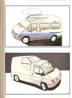 1985 Transit Consept Brochure (very rare) L Ford Transit Camper, Camper Conversion, Car Sketch, Automotive Art, Drawing Sketches, Hanging Out, First Love, Proposals, Colouring