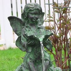 Fairy Water Fountain Solar Panel or Battery Power Outdoor Garden Led Lights Yard