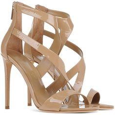 Tamara Mellon Sandals ($770) ❤ liked on Polyvore featuring shoes, sandals, tamara mellon, zipper sandals, leather sole sandals, genuine leather shoes and spiked heel shoes