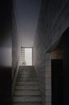 701-house Concrete Wood, Concrete Design, Concrete Blocks, Architecture, Shed, Stairs, House Design, Places, Interior