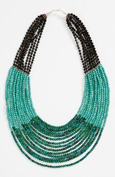 Panacea Multistrand Necklace available at #Nordstrom voor de kleurencombi voor ketting met rocailles. bovenin geleider met meerdere gaatjes...