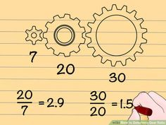 How to Determine Gear Ratio. In mechanical engineering, a gear ratio is a direct measure of the ratio of the rotational speeds of two or more interlocking gears. As a general rule, when dealing with two gears, if the drive gear (the one.