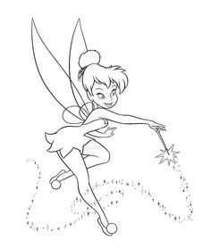 Download and Print free tinkerbell coloring pages girls ...