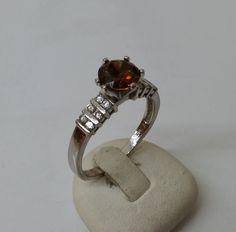 925er+Silberring+mit+goldbraunem+Zirkonia+SR435+von+Atelier+Regina++auf+DaWanda.com