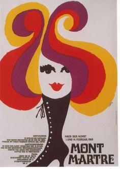 Original vintage poster CARNIVAL MUNICH MONTMARTRE '69