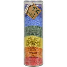 Aloha Bay Unscented Chakra Jar Rainbow Sri Yantra 7 Color - 1 Candle
