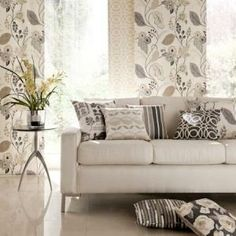 Gorgeous fabrics from the Folia range, supplied by Charles Parsons. Available from Guthrie Bowron. Curtains Made Simple, Kitchen Fabric, Home Furnishing Stores, Contemporary Fabric, Affordable Home Decor, Home Decor Fabric, Throw Cushions, Curtain Fabric, Of Wallpaper