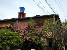 Wassertank auf einen Dach in Villarrica...