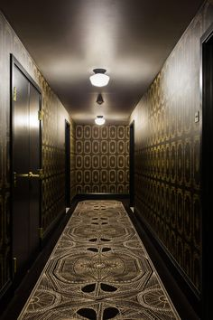 a hotel hallway we wouldn't mind getting lost in...