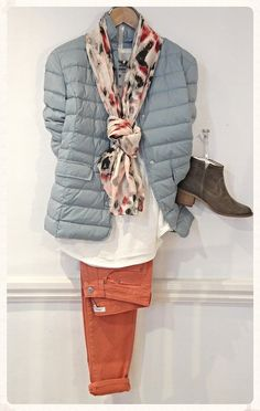 Part Two Puffer Jacket, £129.95 Sandwich Long sleeve top, £58 Sandwich Scarf, £19 Cara Ankle Boots £99 Strata Necklace, £25