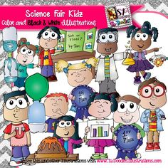 These kids are ready to do science experiments and participate in the science fair! Science commercial clipart is high resolution vector art by Ta-Doodles Illustrations. Math Clipart, Science Clipart, Snowman Clipart, Science Fair, Science For Kids, Science Lessons, Science Experiments, Winter Clipart, Christmas Clipart