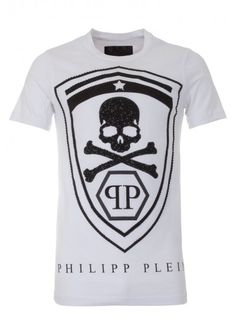 philipp plein 39 guilty mouse 39 polo t shirt white polo with an embroidered gothic p on the. Black Bedroom Furniture Sets. Home Design Ideas