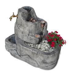 Fontana mod. Colorado con gioco d'acqua, finitura: antichizzata. Garden Sculpture, Colorado, Outdoor Decor, Home Decor, Water Sources, Clays, Vase, Aspen Colorado, Decoration Home