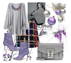 """""""Romwe"""" by vaslida ❤ liked on Polyvore featuring Love Moschino, Aperlaï and Proenza Schouler"""