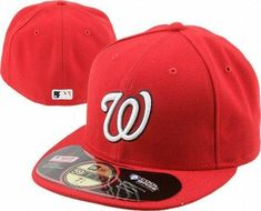 Mens New Era MLB Washington Nationals Authentic On Field Home 59FIFTY Cap 5f7bd2d40282