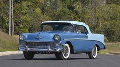 1956 Chevrolet Bel Air Convertible Dual Quad 265/225 HP, Rotisserie Restoration presented as lot R466 at Kissimmee, FL