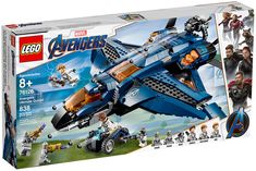 LEGO® Super Heroes Avengers Ultimate Quinjet 76126 - Lego - Team up with the Avengers and fly into conflict against the Chitauri in the LEGO® Marvel Avengers 76126 Avengers Ultimate Quinjet. Lego Marvel's Avengers, Marvel Avengers Movies, Films Marvel, Avengers Quotes, Avengers Imagines, Lego Marvel Super Heroes, Avengers Crafts, Lego Batman, Captain America