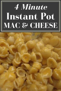 4-Minute Instant Pot Mac & Cheese - A Wandering Vine