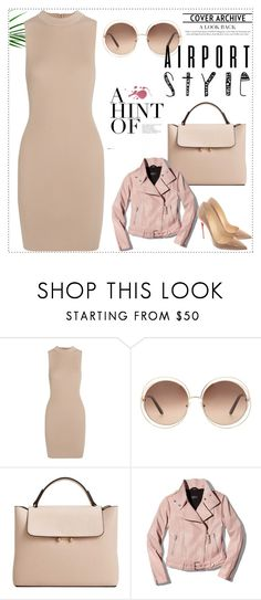 """""""nude"""" by deboraaguirregoncalves ❤ liked on Polyvore featuring Tart, Chloé, MANGO, Mackage and Christian Louboutin"""