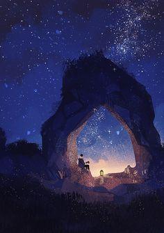 25 New ideas for fantasy art painting sky Fantasy Landscape, Landscape Art, Fantasy Kunst, Fantasy Art, Scenery Wallpaper, Anime Scenery, Aesthetic Art, Aesthetic Wallpapers, Digital Illustration