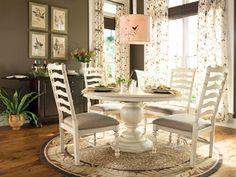 Paula Deen Home Round/Oval Pedestal Dining Table - Linen finish | Paula Deen Home | Home Gallery Stores