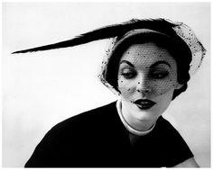 John French ,Felt and Velvet Mandarin hat with Veil,Lyon and Turnbull,London