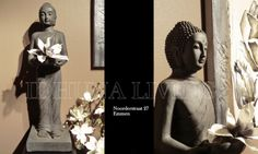 Grote staande Boeddha, maar liefst 100 cm. Kan binnen en buiten geplaatst worden.