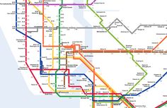 Map shows how many calories you'd burn by walking over taking the subway