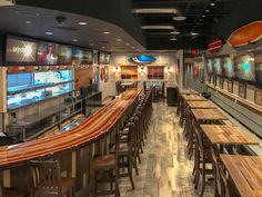 Surf Shack Inspired Sports Grill Interior