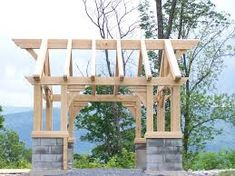 slant roof shed with pergola - Google Search