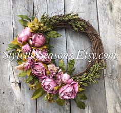 Excited to share the latest addition to my #etsy shop: Spring Door Wreaths, Spring Wreath for Front Door, Spring Peony Wreath, Peony Wreaths for Front Door, Spring Door Decor, Mother's Day Wreath