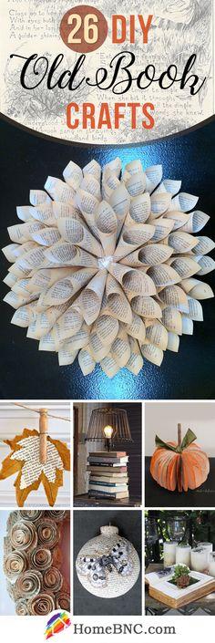 DIY Old Book Craft Ideas