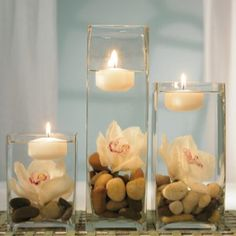 Candle orchid centerpiece