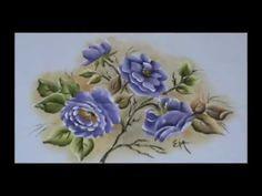 Pintura em Tecido Rosa Porcelanizada.wmv