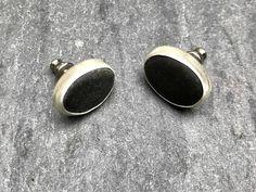 Beach stone stud earringsBeach stone earringssea stone