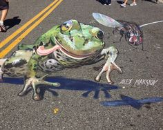Jenn Dixon Photography: 3D Sidewalk Chalk Art
