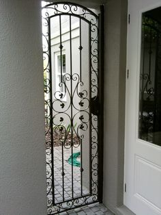 Fence Gate, Fences, Gates, Classic Elegance, Wrought Iron, Stairs, Steel, Beautiful, Picket Fences