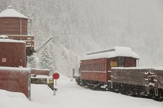 Snow, snow, snow. Georgetown Loop Railroad located in Silver Plume, CO....by daryl kottwitz